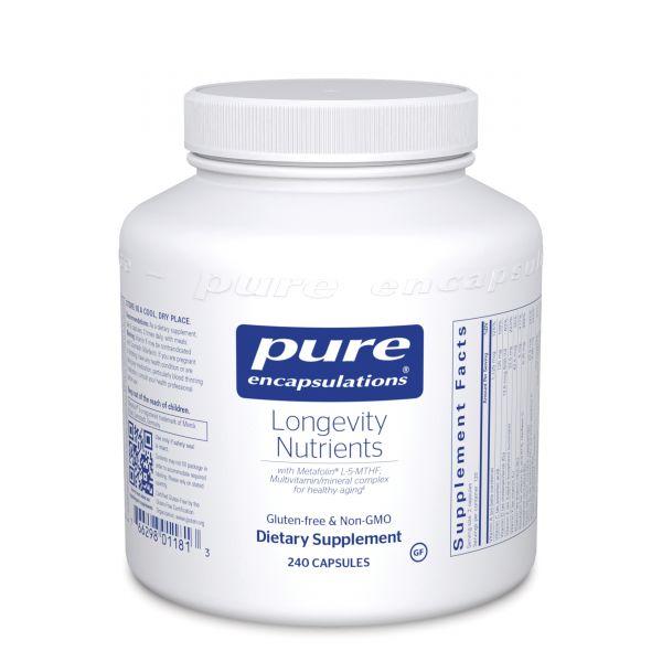 Питательные вещества для долгожительства, Longevity Nutrients, Pure Encapsulations