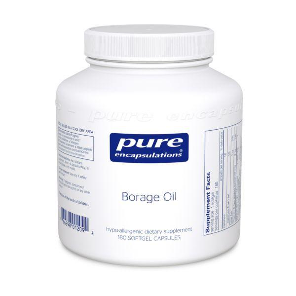 Масло Огуречника, Borage Oil, Pure Encapsulations, 60 капсул
