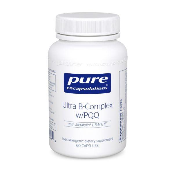 B-комплекс плюс, Ultra B-Complex с PQQ, Pure Encapsulations, 60 капсул