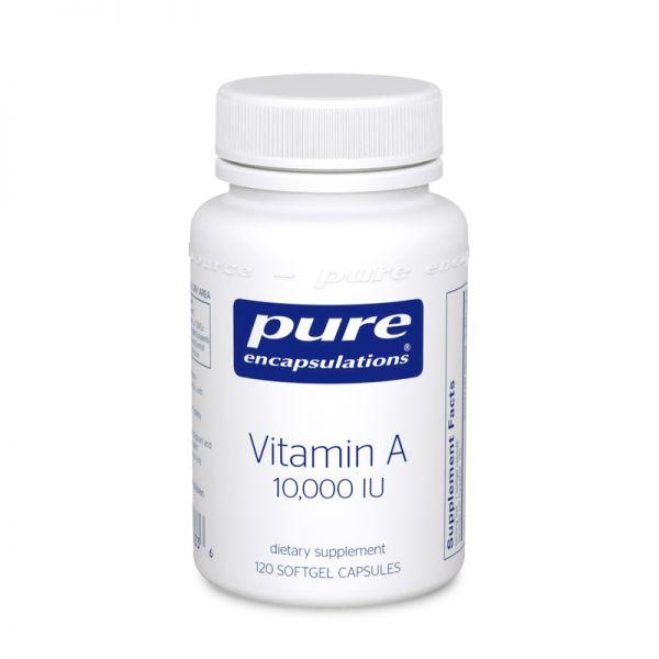 Витамин A, Vitamin A, Pure Encapsulations, 10,000 МЕ, 120 капсул