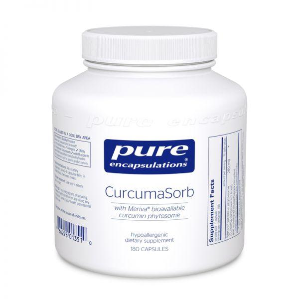Фитосомы куркумина, CurcumaSorb, Pure Encapsulations, 180 капсул