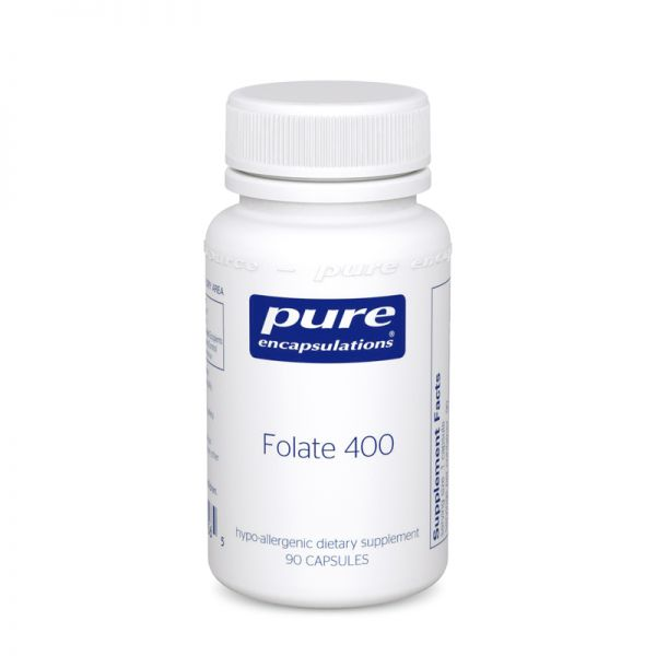 Фолат, Folate, Pure Encapsulations, 400 мг, 90 капсул
