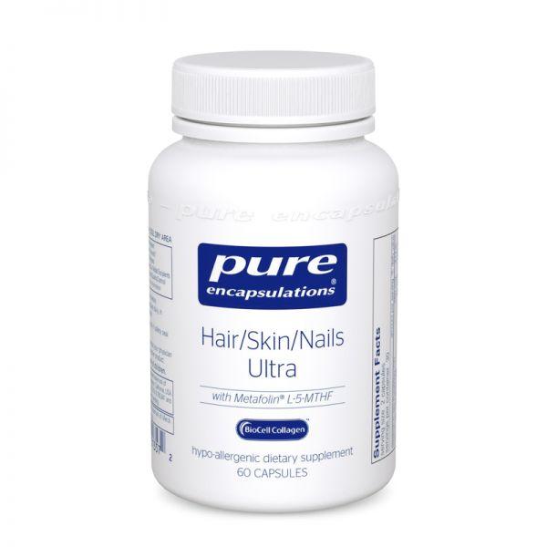 Витамины для волос, кожи и ногтей, Hair, Skin, Nails Ultra, Pure Encapsulations, 60 капсул