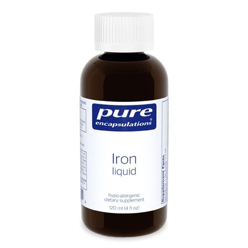 Железо (жидкость),  Iron liquid, Pure Encapsulations, 120 мл