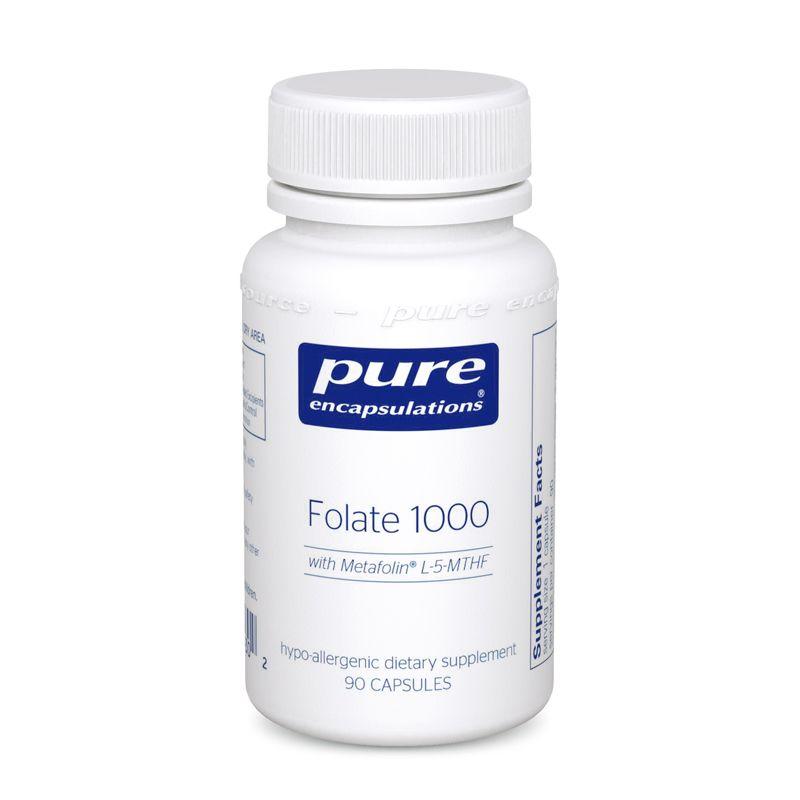 Фолат, Folate, Pure Encapsulations, 1000 мг, 90 капсул