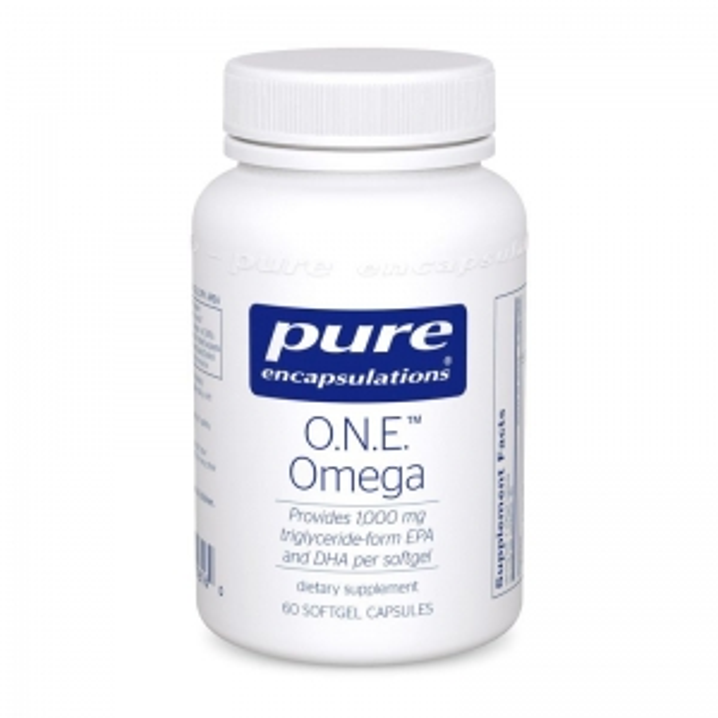 Омега-3 жирные кислоты, O.N.E. Omega, Pure Encapsulations, 60 капсул