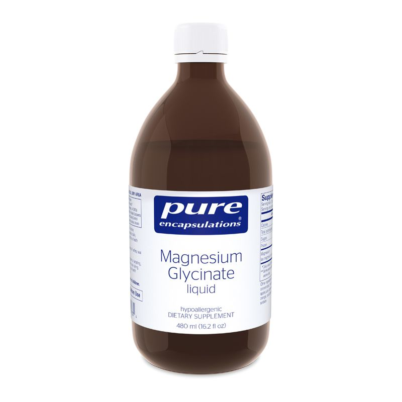 Глицинат магния жидкий, Magnesium Glycinate, Pure Encapsulations, 480 мл