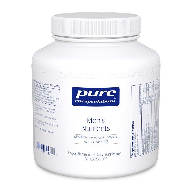 Поливитамины, минеральный комплекс для мужчин старше 40, Men's Nutrients, Pure Encapsulations, 180 капсул