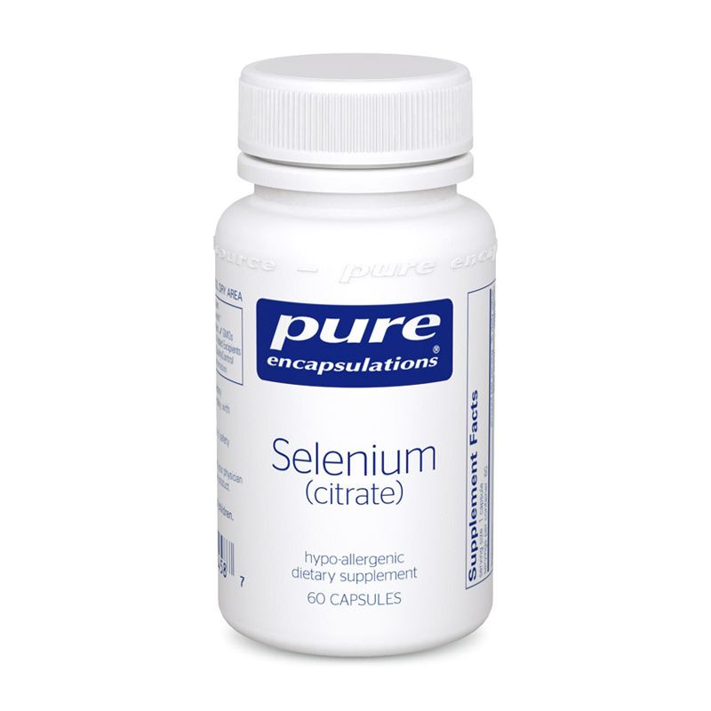 Селен (цитрат), Selenium (citrate), Pure Encapsulations, 60 капсул