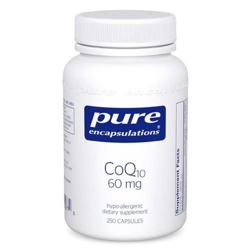 Коэнзим Q10, CoQ10, Pure Encapsulations, 60 мг, 120 капсул