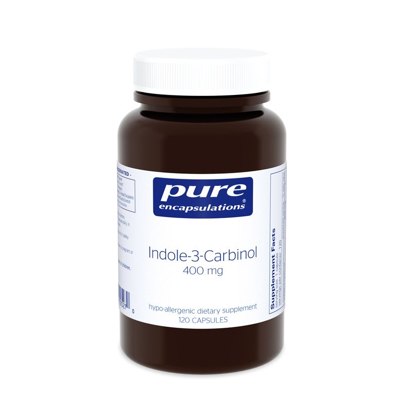 Индол-3-Карбинол, Indole-3-Carbinol, Pure Encapsulations, 400 мг, 120 капсул