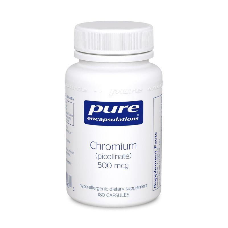 Хром (пиколинат), Chromium (picolinate), Pure Encapsulations, 500 мкг
