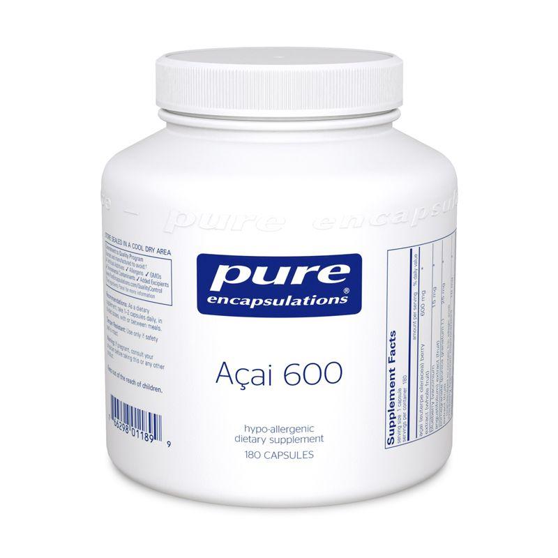 Асаи 600 мг, Asai, Pure Encapsulations, 180 капсул