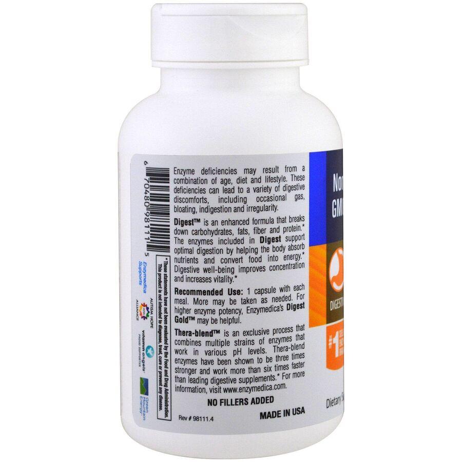 Пищеварительные ферменты,  Complete Enzyme Formula, Digest, Enzymedica, 90 капсула