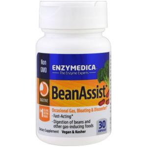 Фермент для переваривания сложных углеводов, BeanAssist, Enzymedica, 30 капсул