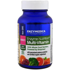 Мультивитамины и ферменты для женщин, Multi-Vitamin, Enzymedica, Women's Enzyme Nutrition, 60 капсул