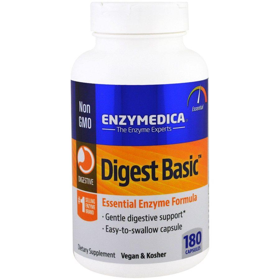 Пищеварительные ферменты, Digest Basic, Essential Enzyme Formula, Enzymedica, 180 капсул