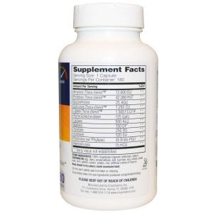 Пищеварительные ферменты, Complete Enzyme Formula, Enzymedica, 180 капсул