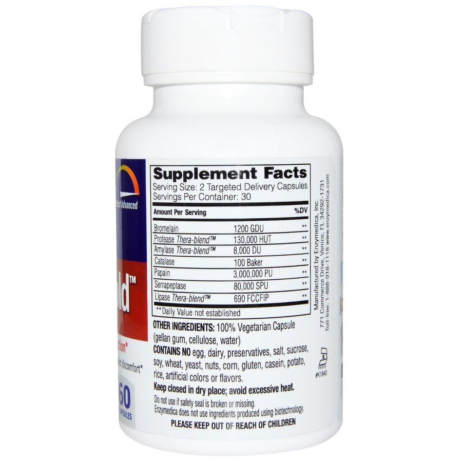 Серрапептаза для суставов, Repair Gold, Enzymedica, 60 кап.
