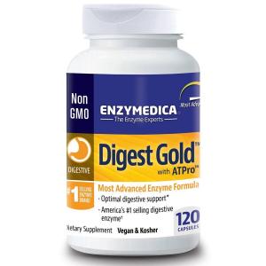 Пищеварительные ферменты, Digest Gold with ATPro, Enzymedica, 120 капсул