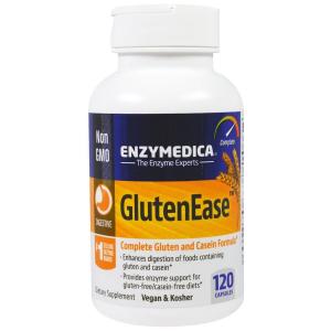 Ферменты для переваривания глютена, GlutenEase, Enzymedica, 120 кап