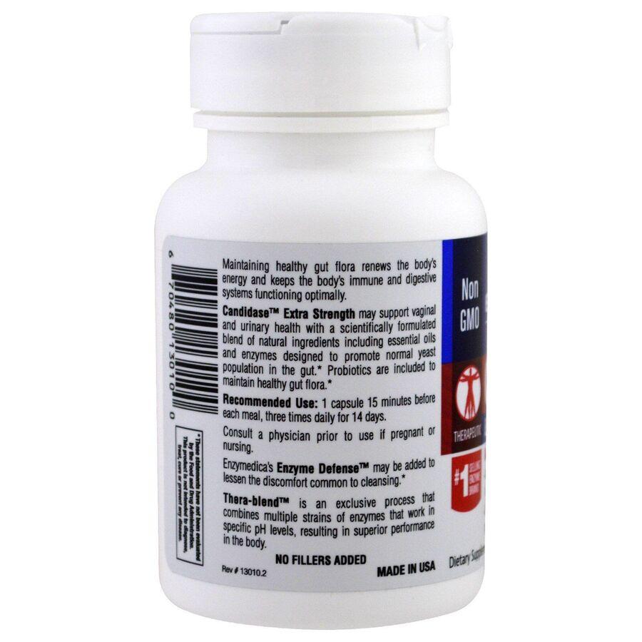 Противокандидное средство, Candidase, Extra Strength, Enzymedica, 42 капсулы