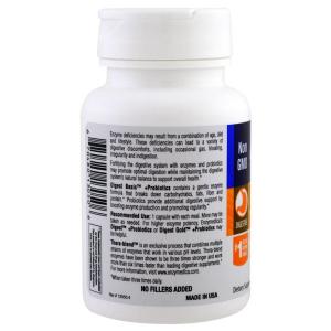 Ферменты и пробиотики, Digest Basic + Probiotics, Enzymedica, 30 капсул