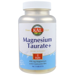 Таурат магния +, Magnesium Taurate+, KAL, 400 мг, 90 таблеток