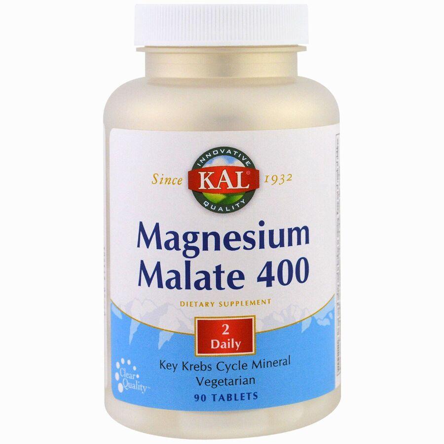 Магний малат, Magnesium Malate, KAL, 400 мг, 90 таблеток