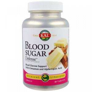 Регулирование содержания сахара в крови, Blood Sugar Defense, KAL, 60 таблеток