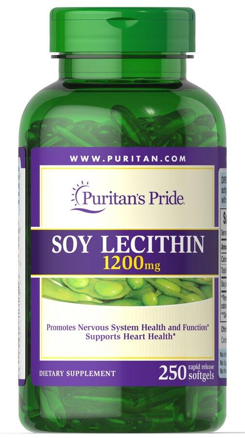 Лецитин из сои, Soy Lecithin, Puritan's Pride, 1200 мг