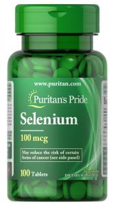 Селен, 100 мкг., Puritan's pride, 100 таблеток