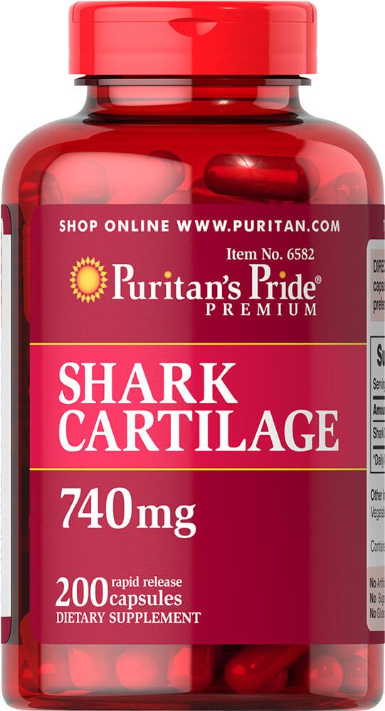 Акулий хрящ, 740 мг., Puritan's pride
