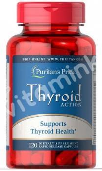 Поддержка щитовидной железы, Puritan's pride, 120 капсул