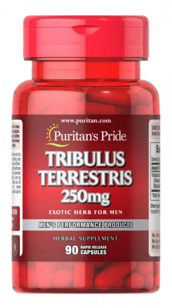 Трибулус, 250 мг., Puritan's pride, 90 капсул