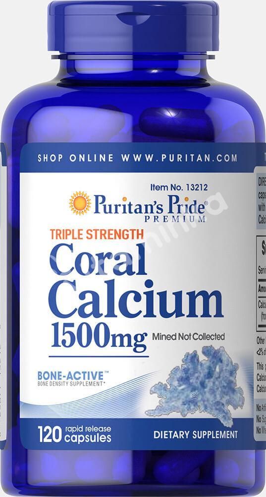 Коралловый кальций, 1500 мг., Puritan's pride, 120 капсул
