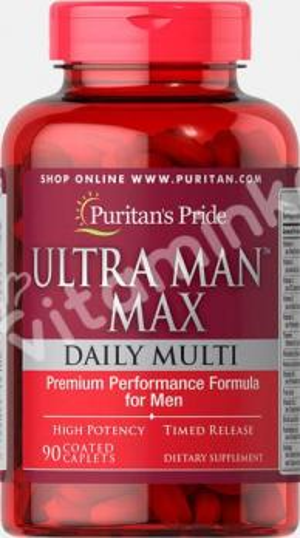 Комплекс для мужчин Ultra Man Max, Puritan's pride, 90 капсул