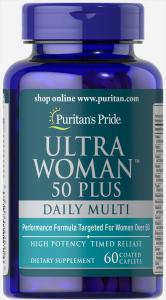 Комплекс витаминов и минералов для пожилых женщин, Ultra Woman 50 Plus, Puritan's pride