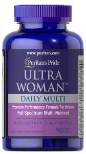 Комплекс витаминов и минералов для женщин  Ultra Woman, Puritan's pride