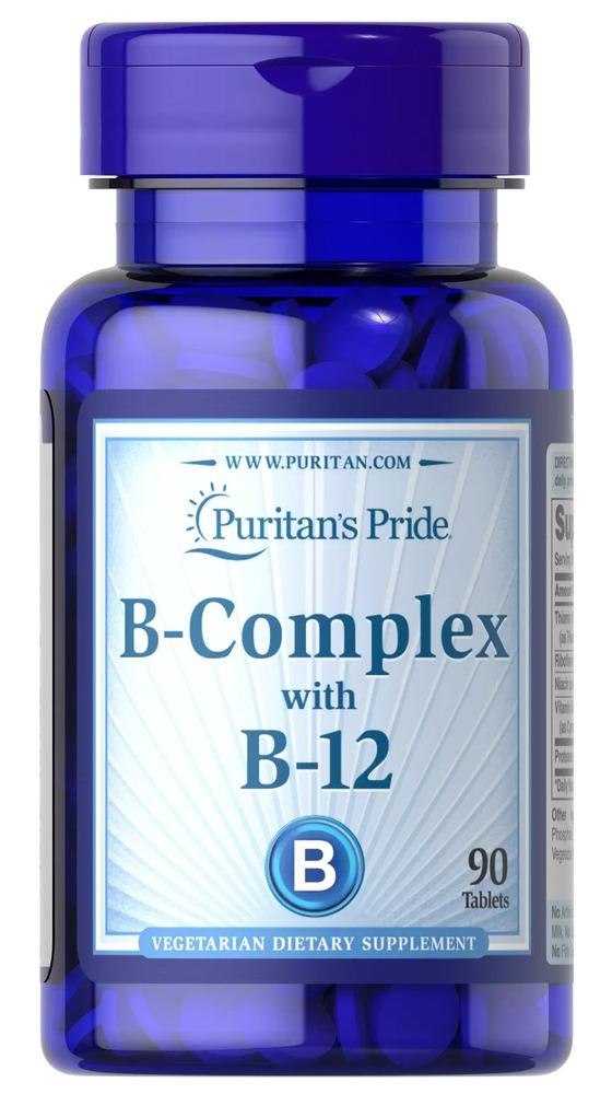 Комплекс витамина В и витамина В12, Puritan's pride