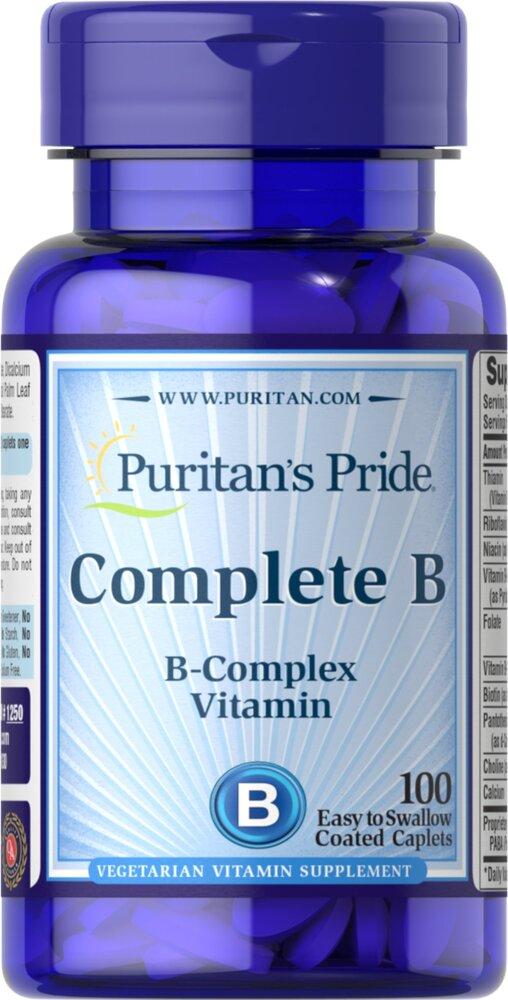 Комплекс витаминов В, Puritan's pride, 100 капсул
