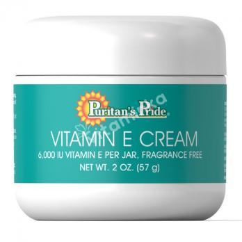 Витамин Е, крем, 6000 МЕ, Puritan's pride, 60 гр.