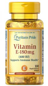 Витамин Е,  400 МЕ, Puritan's pride