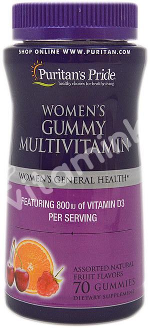 Комплекс витаминов для женщин, Puritan's pride, 70 желатиновых конфет