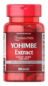Йохимбин, 200 мг., Puritan's pride, 50 капсул