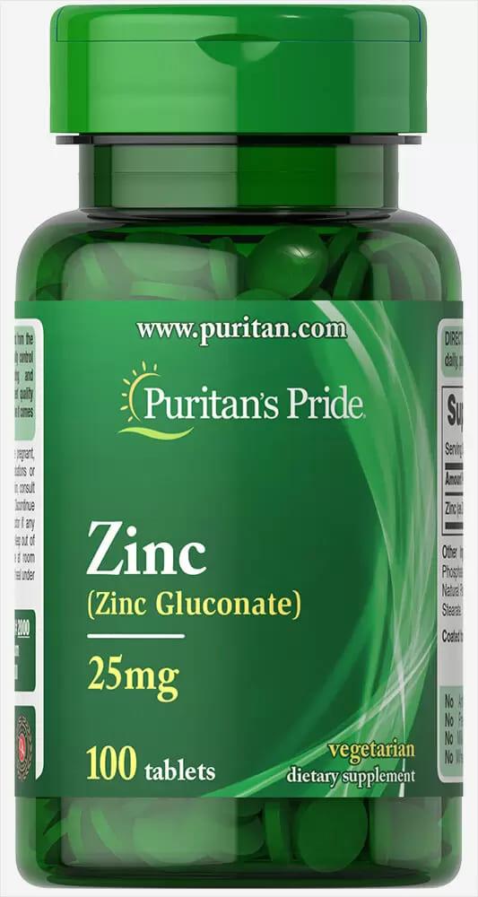 Цинк,  25 мг., Puritan's pride, 100 таблеток