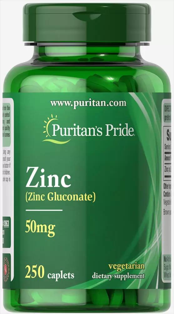 Цинк глюконат, 50 мг., Puritan's pride
