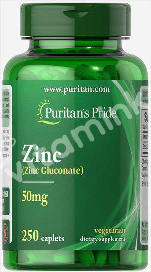 Цинк,  25 мг., Puritan's pride, 250 капсул