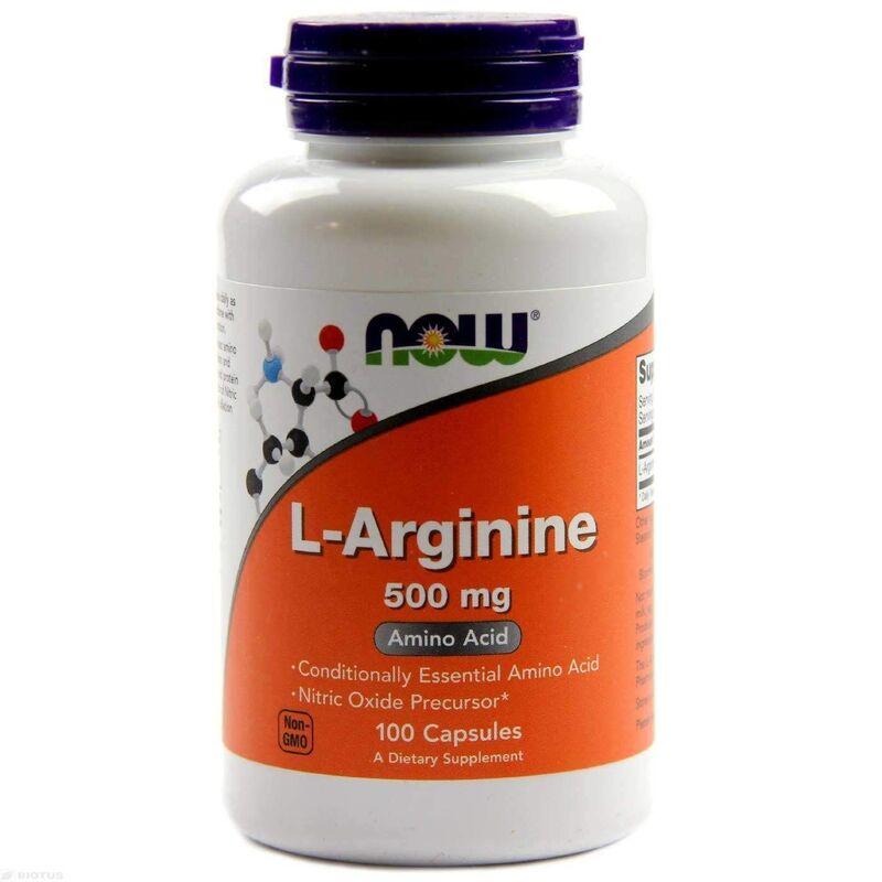 Аргинин, L-Arginine, Now Foods, 500 мг.