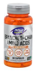 BCAA амино, Branched Chain Amino, Now Foods, Sports, 60 капсул